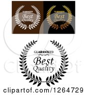 Clipart Of Best Quality Designs Royalty Free Vector Illustration