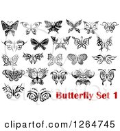 Black And White Tribal Butterfly Designs