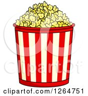 Clipart Of A Popcorn Bucket Royalty Free Vector Illustration