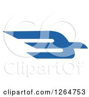 Clipart Of A Flying Blue Bird Royalty Free Vector Illustration by Vector Tradition SM