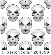 Clipart Of A Seamless Background Pattern Of Monster Skulls Royalty Free Vector Illustration