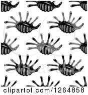 Clipart Of A Seamless Background Pattern Of Black And White Sea Shells Royalty Free Vector Illustration by Vector Tradition SM