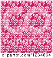 Clipart Of A Seamless Background Pattern Of White Floral Vines On Pink Royalty Free Vector Illustration by Vector Tradition SM
