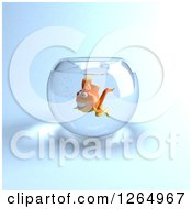 3d Goldfish In A Bowl