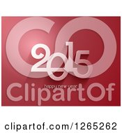 Clipart Of A 3d Happy New Year 2014 Red Background Royalty Free Vector Illustration