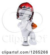 Clipart Of A 3d White Man Football Player Royalty Free Illustration by KJ Pargeter