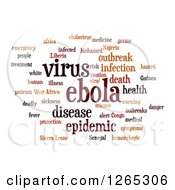 Clipart Of A Brown Ebola Virus Word Collage On White Royalty Free Illustration
