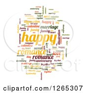 Clipart Of A Colorful Romance Word Collage On White Royalty Free Illustration by oboy