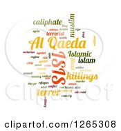 Isis And Al Qaeda Word Collage On White