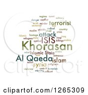 Green Isis And Al Qaeda Word Collage On White