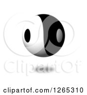 Clipart Of A 3d Floating Yin Yang Sphere Royalty Free Illustration