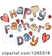 Clipart Of Colorful Sketched Happy Fathers Day Text Royalty Free Vector Illustration