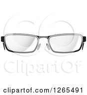 Clipart Of A Pair Of Eyeglasses Royalty Free Vector Illustration