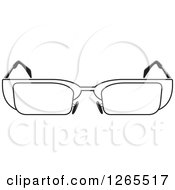 Clipart Of A Black And White Pair Of Eyeglasses Royalty Free Vector Illustration by Lal Perera