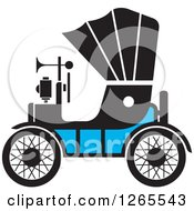 Clipart Of A Vintage Antique Car With A Horn Royalty Free Vector Illustration