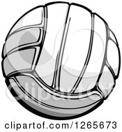 Clipart Of A Volleyball Royalty Free Vector Illustration