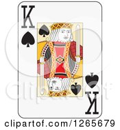 Clipart Of A King Of Spades Playing Card Royalty Free Vector Illustration