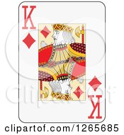Clipart Of A King Of Diamonds Playing Card Royalty Free Vector Illustration