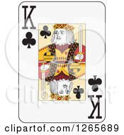 Clipart Of A King Of Clubs Playing Card Royalty Free Vector Illustration