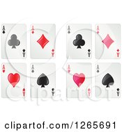 Clipart Of Ace Playing Cards Royalty Free Vector Illustration