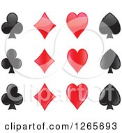 Clipart Of Playing Card Suit Shapes Royalty Free Vector Illustration
