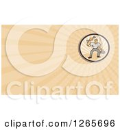 Clipart Of A Male Mechanic With A Wrench And Tool Box Business Card Design Royalty Free Illustration