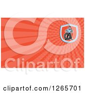 Clipart Of A Male Mechanic With A Tire Business Card Design Royalty Free Illustration