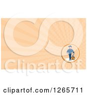 Clipart Of A Male Paramedic Business Card Design Royalty Free Illustration by patrimonio