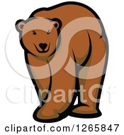 Clipart Of A Brown Bear Royalty Free Vector Illustration by Seamartini Graphics