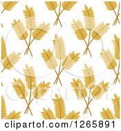 Clipart Of A Seamless Background Pattern Of Wheat On White Royalty Free Vector Illustration