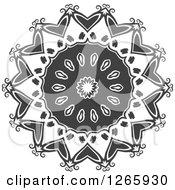 Grayscale Lace Circle