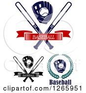 Clipart Of Baseball Designs Royalty Free Vector Illustration