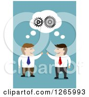 Clipart Of Caucasian Business Men Forming A Partnership Royalty Free Vector Illustration by Vector Tradition SM