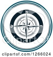 Clipart Of A Nautical Compass Rose Logo Royalty Free Vector Illustration by Vector Tradition SM