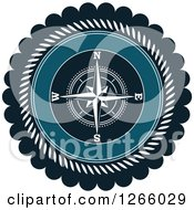 Clipart Of A Nautical Compass Rose Logo Royalty Free Vector Illustration