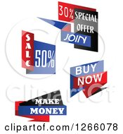 Clipart Of Retail Banners Royalty Free Vector Illustration