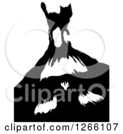 Clipart Of A Scared Black Cat Casting A Monster Shadow Royalty Free Vector Illustration