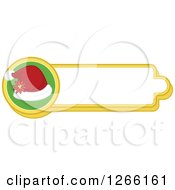 Clipart Of A Santa Hat Christmas Label Royalty Free Vector Illustration