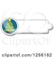 Clipart Of A Christmas Tree Label Royalty Free Vector Illustration