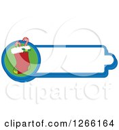 Clipart Of A Christmas Stocking Label Royalty Free Vector Illustration by BNP Design Studio