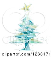 Clipart Of A Geometric Christmas Tree And Star Royalty Free Vector Illustration by BNP Design Studio