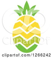 Clipart Of A Gradient Zig Zag Pineapple Royalty Free Vector Illustration