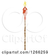 Clipart Of A Tiki Torch Royalty Free Vector Illustration