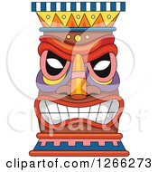 Clipart Of A Tiki Royalty Free Vector Illustration