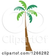 Clipart Of A Palm Tree Royalty Free Vector Illustration by BNP Design Studio