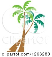 Clipart Of Palm Trees Royalty Free Vector Illustration