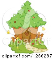 Clipart Of An Enchanted Fairy House Royalty Free Vector Illustration