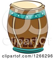 Clipart Of A Tiki Party Drum Royalty Free Vector Illustration
