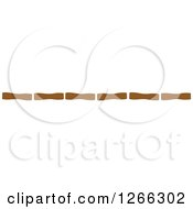 Clipart Of A Border Of Brown Bamboo Royalty Free Vector Illustration