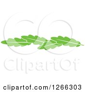 Clipart Of A Border Of Green Leaves Royalty Free Vector Illustration